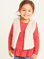 Old Navy Faux-Fur Cropped Vest for Toddler Girls