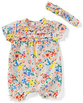 Baby Starters Baby Girls 3-9 Months Floral-Printed Ruffled Romper & Headband
