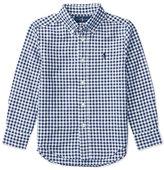 Ralph Lauren Long-Sleeve Gingham Sport Shirt, Blue, Size 2-4