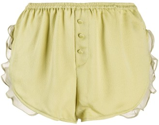 LOVE Stories Mae ruffle-trimmed shorts