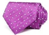 Turnbull & Asser White Dot Wide Tie