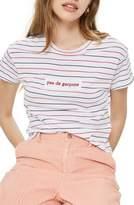 Topshop Pas De Garcons Stripe T-Shirt