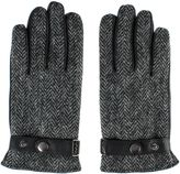 Gibson Grey Harris Tweed Leather Gloves