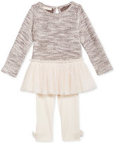 First Impressions 2-Pc. Tulle Sweater Tunic and Leggings Set, Baby Girls (0-24 months), Created for Macy's