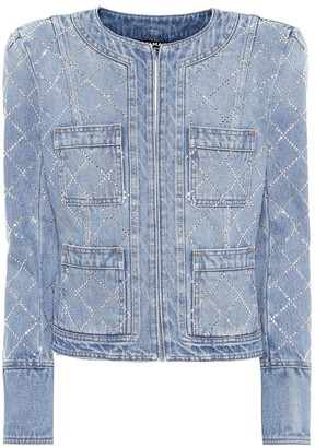 Balmain Embellished denim jacket