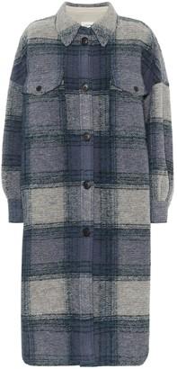 Etoile Isabel Marant Gabrion checked wool-blend coat