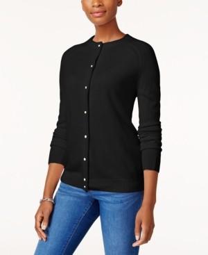 Karen Scott Bead-Button Cardigan, Created for Macy's