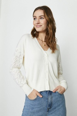 Coast Lace Sleeve Knitted Cardigan