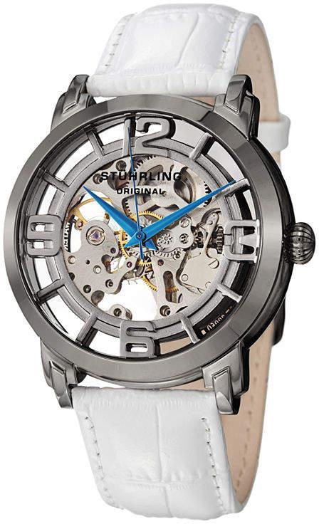 Stuhrling Original Womens White Strap Watch-Sp12898