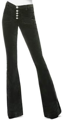 Ramy Brook Cindy Velveteen Jeans in Forest Green