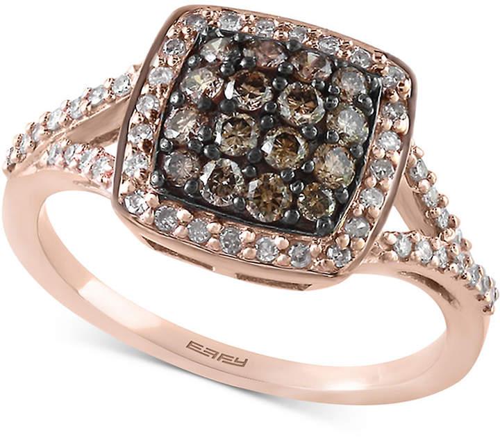 Effy Diamond Cluster Ring (5/8 ct. t.w.) in 14k Rose Gold