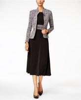Jessica Howard Petite A-Line Dress and Printed Jacket