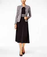 Jessica Howard Sparkle-Printed Dress & Jacket