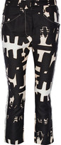 Isabel Marant Kerena Printed Cotton-Twill Straight-Leg Pants