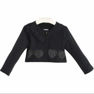 sarabanda HEATER in Sweatshirt with Hearts in Strass Black Newborn K213 - Black - 18 months