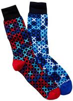 Jared Lang Lattice Crew Sock - Pack of 2