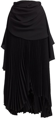 A.W.A.K.E. Mode High-Waist Pleated Maxi Skirt