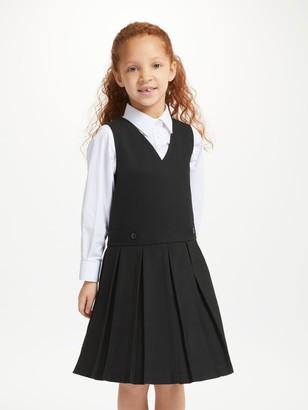 John Lewis & Partners School Box Pleat Tunic, Black