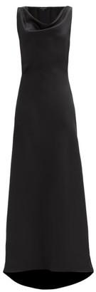 Ellery The G6 Cowl-neck Satin Dress - Black