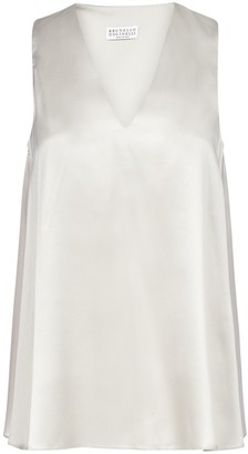 Brunello Cucinelli V-Neck Sleeveless Blouse