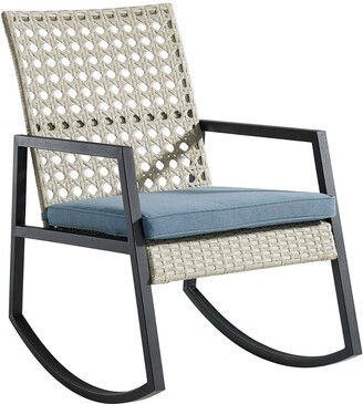 Hewson Outdoor Patio Rattan Rocking Chair