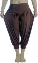 AvaCostume Modal Cotton Soft Yoga Sports Dance Harem Capri Pants, L