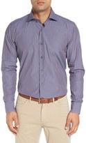 Peter Millar Men's Regular Fit Microcheck Sport Shirt
