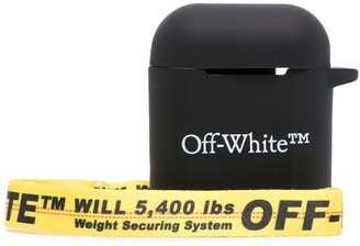 Off-White logo-print AirPods case
