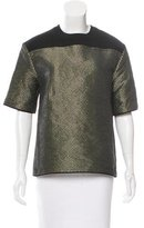 Cédric Charlier Metallic Embroidered Top