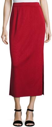 Misook Long Straight Knit Skirt, Vintage Rose