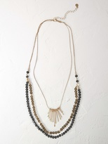 White Stuff Triple layer beaded necklace
