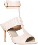 Max Studio Wonder - Waxed Leather Ankle Wrap Sandals