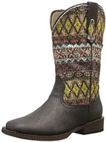 Roper Aztec Metallic Square Toe Bling Cowgirl Boot (Toddler/Little Kid)