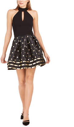 Betsey Johnson Metallic-Dot Fit & Flare Dress
