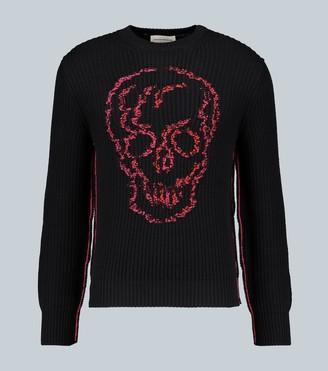 Alexander McQueen Skull knitted cotton sweater