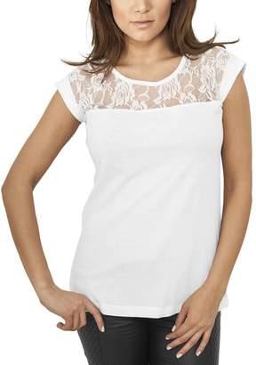 Urban Classics Women's Ladies Top Laces Tee T-Shirt