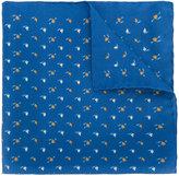 Lanvin Suits print pocket square
