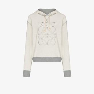 Loewe Anagram embroidered cotton hoodie