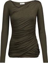Bailey 44 Ruched stretch-jersey top