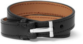 Tom Ford - Leather Silver-tone Wrap Bracelet