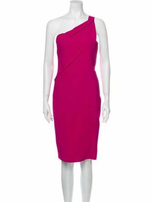 Roland Mouret One-Shoulder Knee-Length Dress Pink