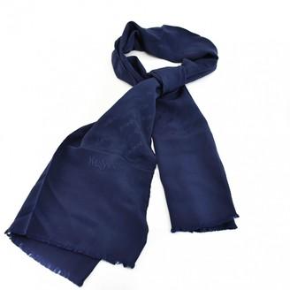 Saint Laurent Navy Silk Scarves