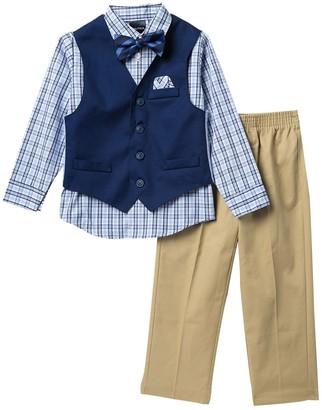 Nautica Twill Solid Vest 4-Piece Set (Toddler & Little Boys)
