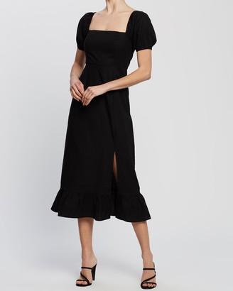 Atmos & Here Leighton Linen Blend Maxi Dress