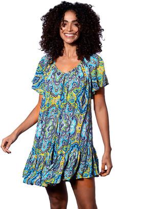 MC2 Saint Barth Gipsy Print Short Dress