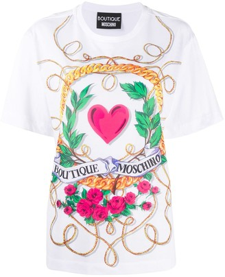 Boutique Moschino graphic print cotton T-shirt