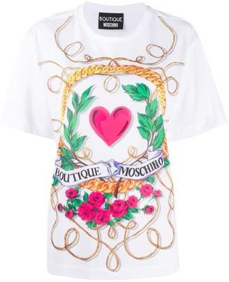 Boutique Moschino graphic print cotton T-shirt