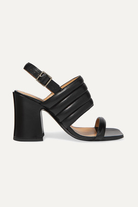 Dries Van Noten Quilted Leather Slingback Sandals - Black
