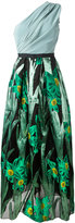 Christian Pellizzari floral jacquard gown - women - Silk/Polyamide/Polyester/Polyimide - 44
