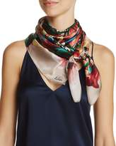 Echo Abstract Floral Silk Square Scarf